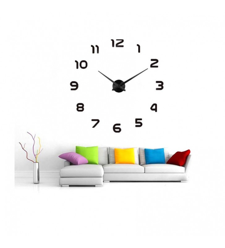 Nowoczesny zegar ścienny naklejany na ścianę DIY XXL od 70-130 cm 12S002