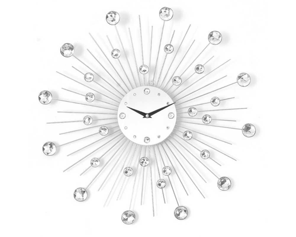 Zegar ścienny Crystal - DIamond - Nowoczesny zegar ścienny Nextgeneration DIAMOND 905  minimal efekt lustra cyrkonie e-7