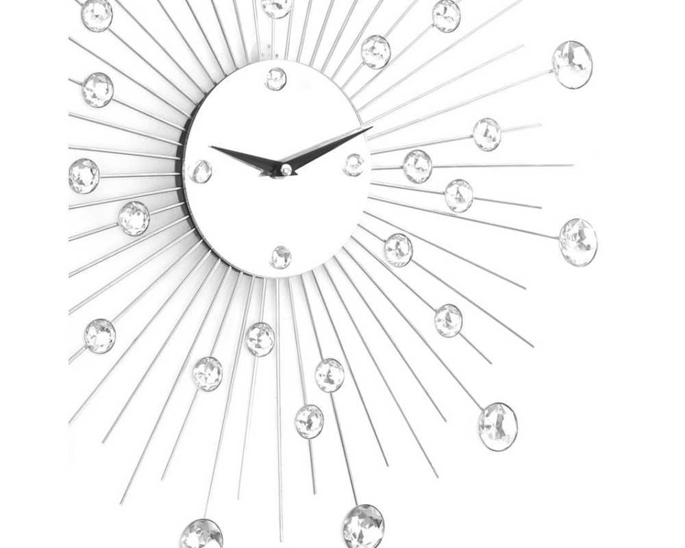 Zegar ścienny Crystal - DIamond - Nowoczesny zegar ścienny Nextgeneration DIAMOND 905  minimal efekt lustra cyrkonie e-8