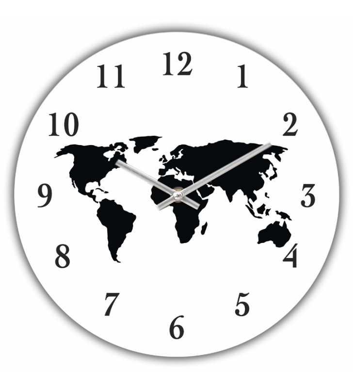 Zegar dla ścienny Happy Hour World map