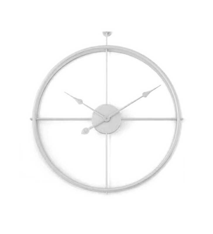 Zegar ścienny metalowy LOFT Silver 56 cm 3D