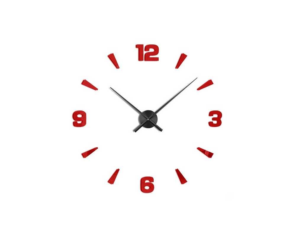 Zegar ścienny diy duży T4218 czerwono czarny 130 cm